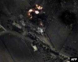 Кадры бомбардировок Сирии, опубликованные Министерством обороны России