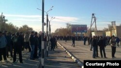 Штрајк на работниците од нафтената индустрија во Жанаозен.