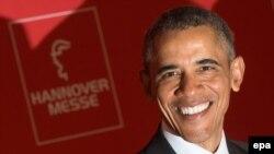 Германия. Барак Обама на открытии ежегодной выставки в Ганновере. 24.04.2016