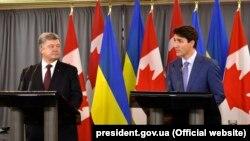 Петр Порошенко и Джастин Трюдо, Торонто, 22 сентября 2017 года