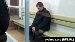 Аляксандар Груноў на судовым працэсе.