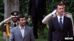 محمود احمدی نژاد روز شنبه با بشار اسد دیدار کرد. عکس از مهر