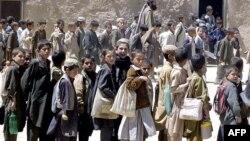 Пәкістандағы босқындар лагеріндегі ауған босқын балалары. Кветта қаласы. (Көрнекі сурет).