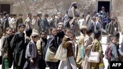 په سرانانو کې د افغان کډوالو پنډغالی