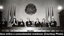 Consfătuirea de constituire a Consiliului Naţional al Organizaţiei Pionierilor (Marea Adunare Naţională, 11 XI 1966). Sursa: Fototeca online a comunismului românesc; cota:768/1966