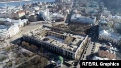 Гостиний двір розташований на Подолі – в історичному серці Києва