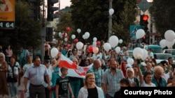 گردهمایی اعتراضآمیز هزاران تن در شهر منسک پایتخت بلاروس