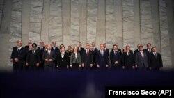 Министры обороны стран НАТО на встрече в Брюсселе, 13 февраля 2018 года