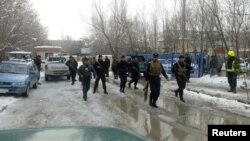 Աֆղանստան - Ոստիկանները պայթյունի վայրում, Քաբուլ, 7-ը փետրվարի, 2017թ․