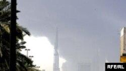 انفجار روز چهارشنبه با صدای مهیبی همراه بود.(عکس: RFE/RL)