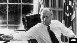 Președintele Gerald Ford la Casa Albă în octombrie 1974