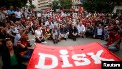 Ankarada həmkarlar ittifaqlarının aksiyası, 17 iyun 2013