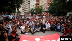 Акция профсоюзов в Анкаре