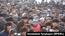 Оппозициялық ЖСДП партиясының Алматыдағы митингісі. 28 қаңтар, 2012 жыл.