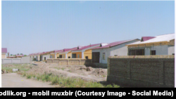 Образцовые дома в Хазараспском районе Хорезмской области.