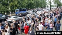 Belarusda keçirilən etiraz aksiyası