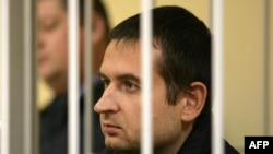 Greenpeace activist Ruslan Yakushev from Ukraine, pictured here last month in a court in the northern Russian city of Murmansk.
