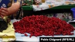 Maline na tržnici, ilustracija