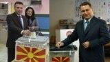 Лидерите на СДСМ и на ВМРО-ДПМНЕ, Зоран Заев и Никола Груевски гласаат на предвремените парламентарни избори на 11 декември 2016