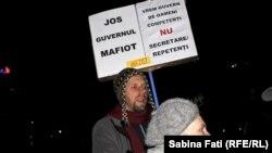 Антиправительственный протест в центре столицы Румынии Бухареста