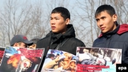An antigay rally in Bishkek in February