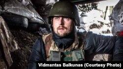 Довидас Панцеровас на Донбасі під час бойових дій