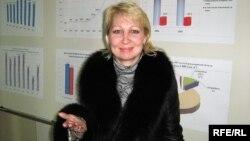 Теміртаудағы «Отражение» қоғамдық экологиялық ұйымының төрайымы Елена Варганова. Теміртау, 2010 жылдың наурызы.