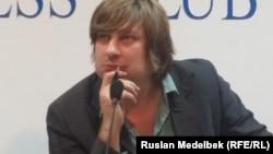 Қазақстандық экономист Денис Кривошеев. Алматы, 6 қазан 2014 жыл.