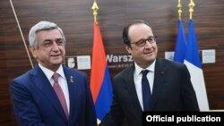 Serzh Sarkisian və Francois Hollande