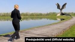 Kolinda Grabar Kitarović u Jasenovcu