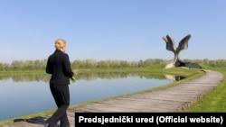 Kolinda Grabar - Kitarović posjetila Jasenovac, 22. travnja 2015.