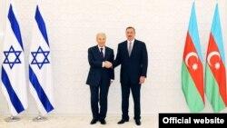 İsrail prezidenti Şimon Peres və İlham Əliyev, 28 iyun 2009