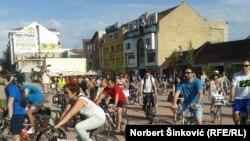 Protest novosadskih biciklista