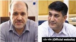 محمد عزیزی، نماینده ابهر (سمت راست) و فریدون احمدی، نماینده زنجان