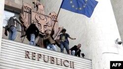 В 2009 году в Кишиневе прошел ряд митингов за интеграцию с ЕС