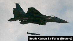 South Korea's Air Force reportedly scrambled several planes, including F-15K fighter jets. (file photo)