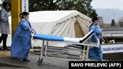 Medicinski radnici tokom zdravstvene krize u Podgorici (27. mart 2020)