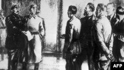 Большевиклар комитеты вәкилләре Вакытлы хөкүмәт әгъзаларына ультиматум кәгазе тапшыра, 1917 ел