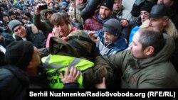 Столкновения возле Октябрьского дворца в Киеве. 17 декабря 2017 года