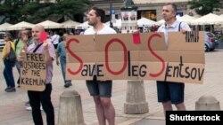 Акция протеста за освобождение Олега Сенцова