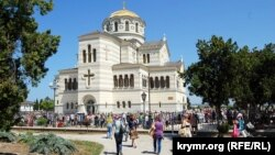 Владимирский собор на территории заповедника «Херсонес Таврический», май 2015 года