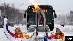 Ռուսաստան - Օլիմպիական կրակը Ուֆայում, դեկտեմբեր, 2013թ․
