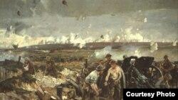 Рычард Джэк, «Бітва на хрыбце Вымі» (1919).