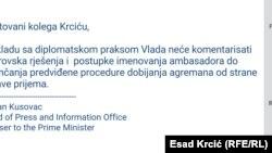 Odgovor Vlade Crne Gore