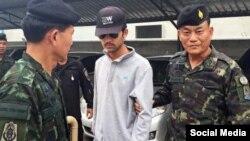 Арест подозреваемого в теракте в Бангкоке, фото South China Morning Post