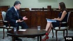 Президент Петро Порощенко і Мирослава Ґонґадзе
