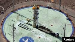 سکوی پرتاب موشک ماهوارهبر سفیر که رصد را به آسمان برده است