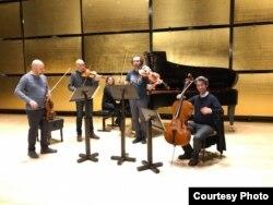 Ensemble Raro în repetiție la Musikverin, Viena