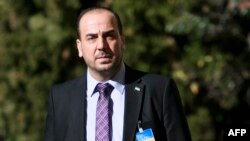The lead negotiator for the Syrian opposition delegation, Nasr al-Hariri