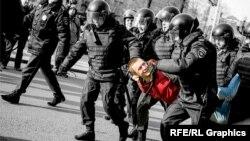 "Задержание участника акции ""Он нам не Димон"", Москва, 26 марта 2017 года"